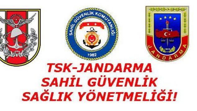TSK-Jandarma-Sahil Güvenlik Sağlık Muayene Yönergesi