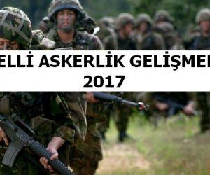 2017 Bedelli Askerlik Hakkındaki Gelişmeler