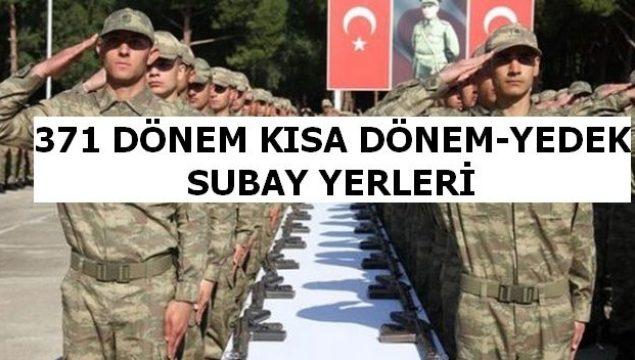 371 Kısa Dönem ve Yedek Subay Askerleri (371KD)